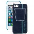 Чехол-кейс  Piquadro для iPhone 5 в  тёмно-синей коже (6x12,5x1)