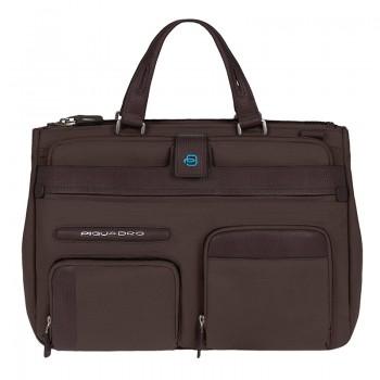 Портфель Piquadro SIGNO с отделением для iPad или ноутбука с чехлом для ноутбука и косметичкой (37x26,5x12,5)