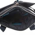 Сумка верт. с фронт. карманом синяя (25,5x30,5x6)