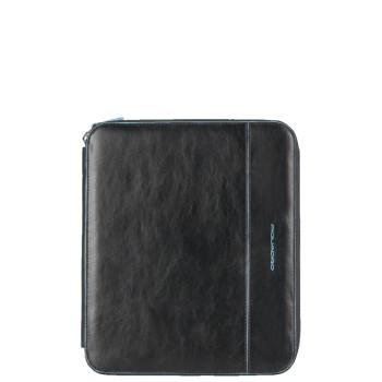 Чехол Piquadro Blue Square/Black  для iPad (21x24,5x2,5)