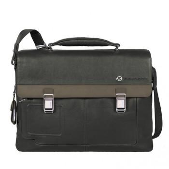Портфель Piquadro VIBE/Grey-Taupe на 2 отдел. с 2 фронт. карманами и с отдел. для/ноутбука CA1044VI_GRTO