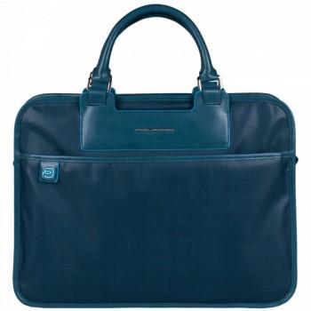 Портфель Piquadro AKI/Blue двуручн. с чехлом для ноутбука/iPad/iPad Air  CA1903AK_AV