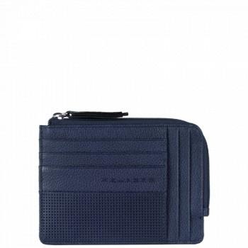 Кредитница Piquadro LASZLO/Blue с отдел. на молнии PU1243W64_BLU