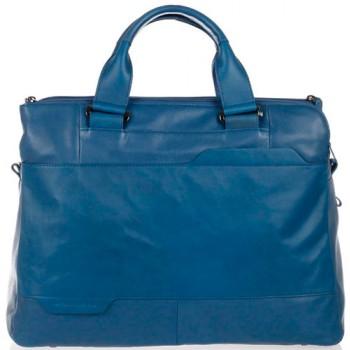 Портфель Piquadro EUCLIDE/Blue двуручн. на 3 отдела CA3299S73_BLU