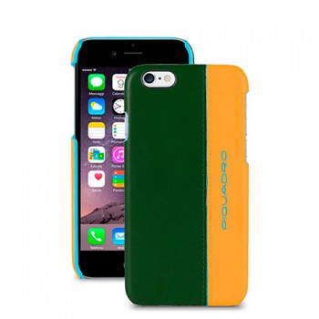 Чехол для iPhone PIQUADRO BL SQUARE/Green-Yellow AC3353B2_VG