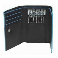 Ключница Piquadro Blue Square с отделением для 3 кредитных карт