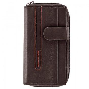 Портмоне Piquadro Freeway верт. карман для мелочи на молнии Кор-Помаранч. Артикул PD1354FW/MA (9,7x17,8x3)см