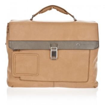 Портфель Piquadro Vibe на 2 отделения с фронт. карманом и с отделением для ноутбука (42x30x13)