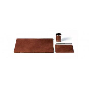 Настольный набор Piquadro TAMPONATO/Brown (Подложка,подст. д/ручек,коврик д/мыши,нож д/писем)