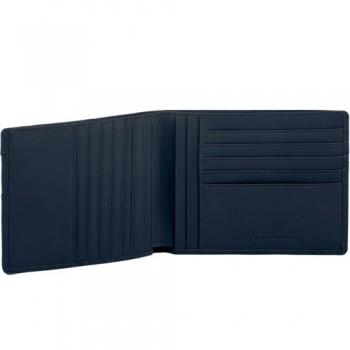 Портмоне Piquadro Galileo/Bk.Blue с отделением д/кредитных карт