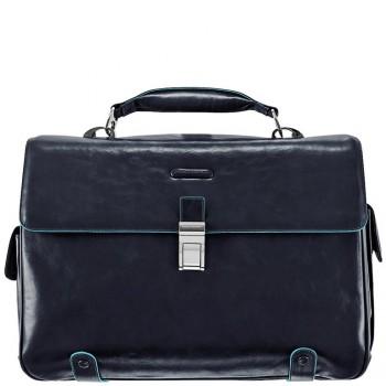 Портфель Piquadro BL SQUARE/N.Blue на 2 отдел. с отдел. д/ноутбука CA1066B2_BLU2