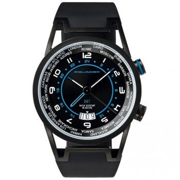 Часы Piquadro WWWATCH/Black муж/кварц/GMT/черн/рез.черн /50м/ST/PVD OR1003WW