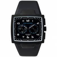 Часы Piquadro WWWATCH/Black  муж/кварц/хроно/черн/рез.черн /50м/ST/PVD OR1009WW