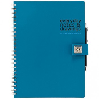 Блокнот Piquadro STATIONERY/Blue A5 на кольцах (70стр)  AR826P3_BLU