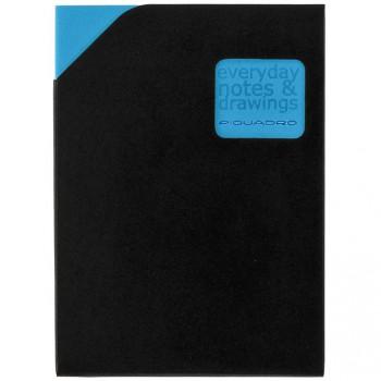 Блокнот Piquadro STATIONERY/Blue A6 (40стр) в кож. чехле  AR829P3_BLU