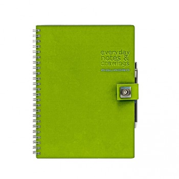 Блокнот Piquadro STATIONERY/Green A4 на кольцах (70стр)  AR827P3_VE