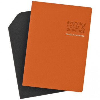 Блокнот Piquadro STATIONERY/Orange A5 (40стр) в кож. чехле  AR830P3_AR