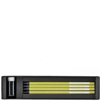 Коробка Piquadro STATIONERY/Green с 4 графит. карандашами HB + ластик + линейка WR2386P3_VE