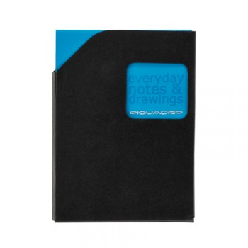 Блокнот Piquadro STATIONERY/Blue A7 (40стр) в кож. чехле  AR828P3_BLU