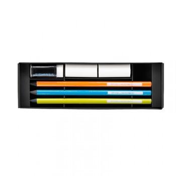 Коробка Piquadro STATIONERY/Color с 3 графит. карандашами HB + 3 ластика WR2387P3_ABV