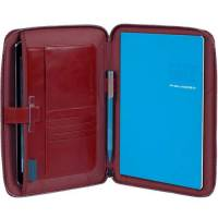 Папка Piquadro BL SQUARE/Red на молнии с блокнотом А5 и отдел. д/iPad mini/iPad mini3 PB3250B2_R