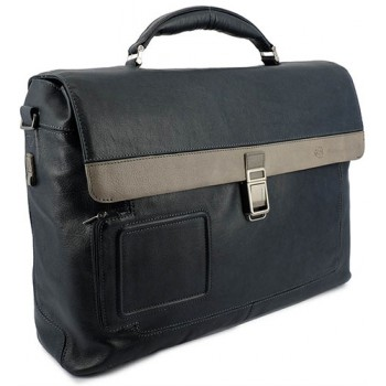 Портфель Piquadro VIBE/Blue-Grey на 2 отдел. с фронт. карманом и с отдел. д/ноутбука CA1045VI_BGR
